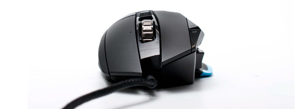 Foto frontale del mouse gaming LOGITECH G 502