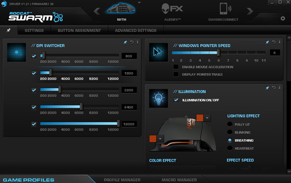 Roccat Nyth Software