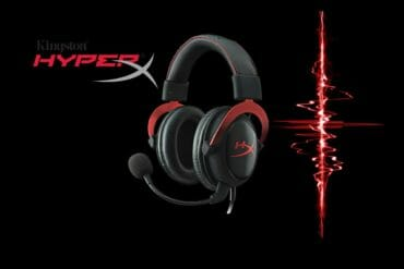 cuffie da gaming nere kingston hyperx cloud 2