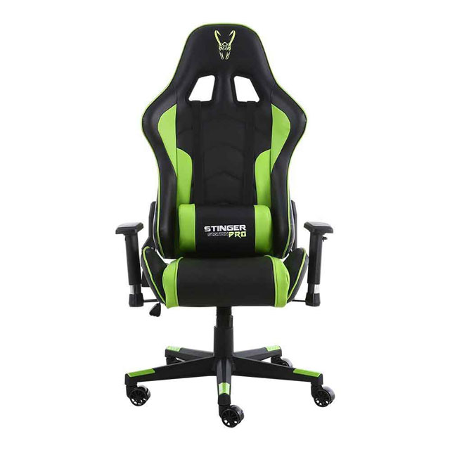 Sedia da gaming wortex stinger pro altà qualita ed economica colore verde e nero