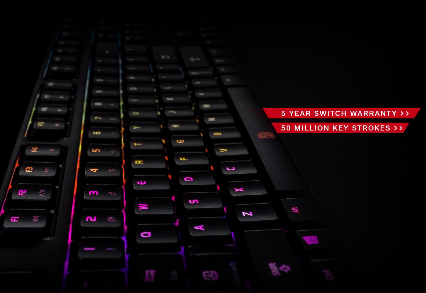 POSEIDON Z RGB, cinque anni di garanzia, tastiera retroilluminata