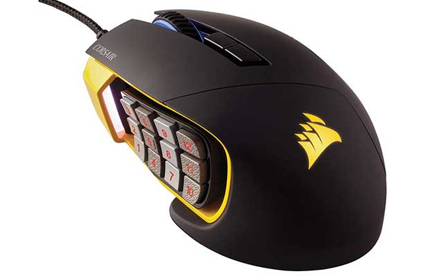migliori mouse gaming mmo corsair scimitar