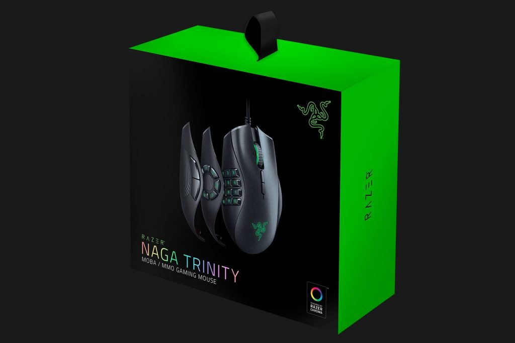 mouse gaming razer naga trinity box
