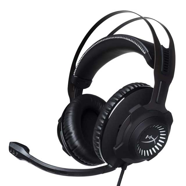 cuffia surround 7.1 ps4 hyper x cloud revolver S, colore nero e padiglioni in similpelle