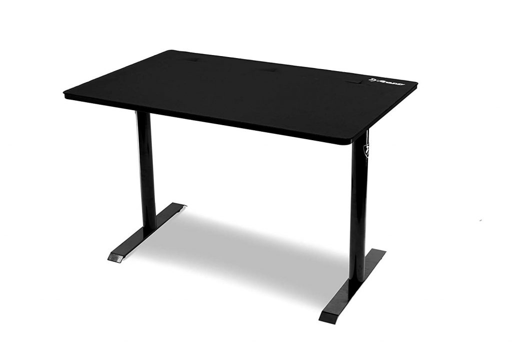 Arozzi leggero desk Scrivania da gaming con passa cavi colore nero