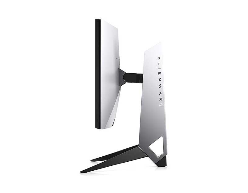 Monitor gaming g-sync 24 pollici visto di lato  Alienware