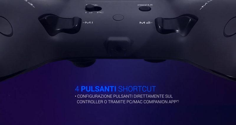 IL joystick ha quattro pulsanti shortcut dove impostare funzioni