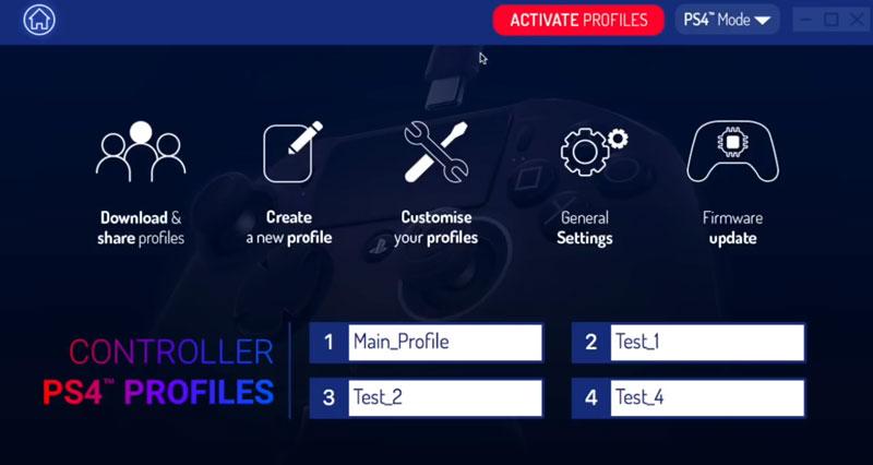 Creazione profili tramite il programma nacon revolution 2