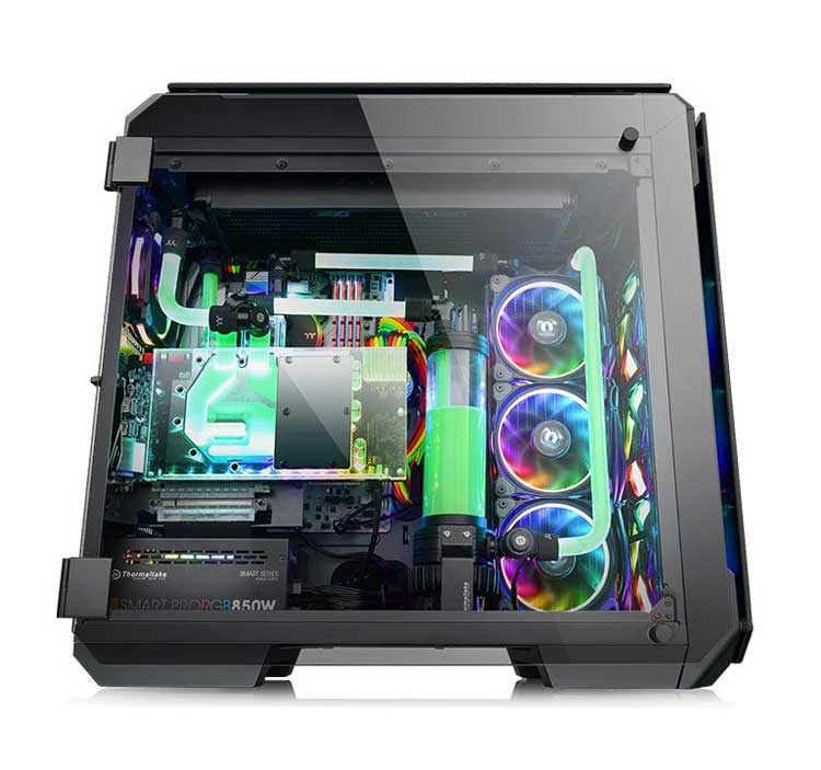 case computer full tower View 71 Tempered Glass RGB Edition vista laterale