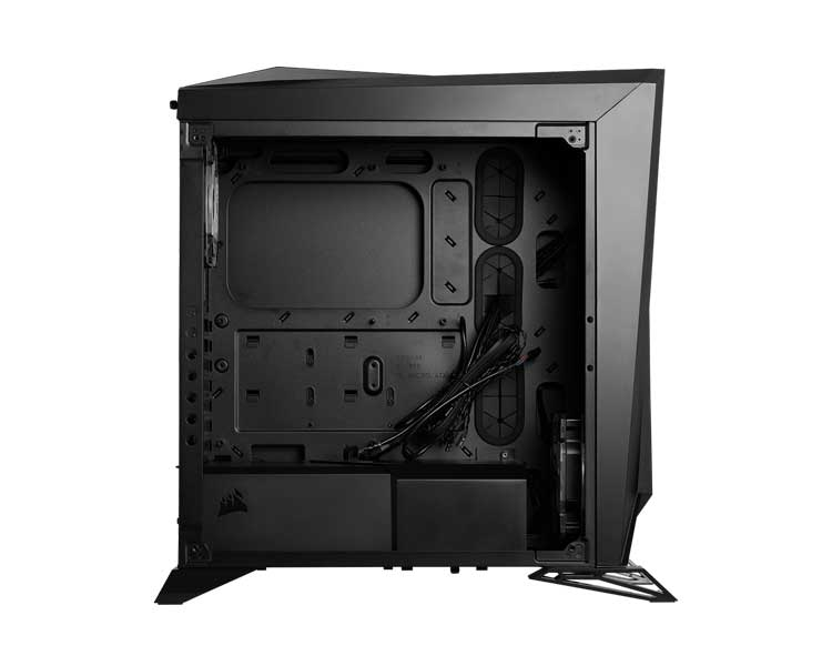 Vista laterale del PC case atx da gaming corsair carbide Spec Omega RGB