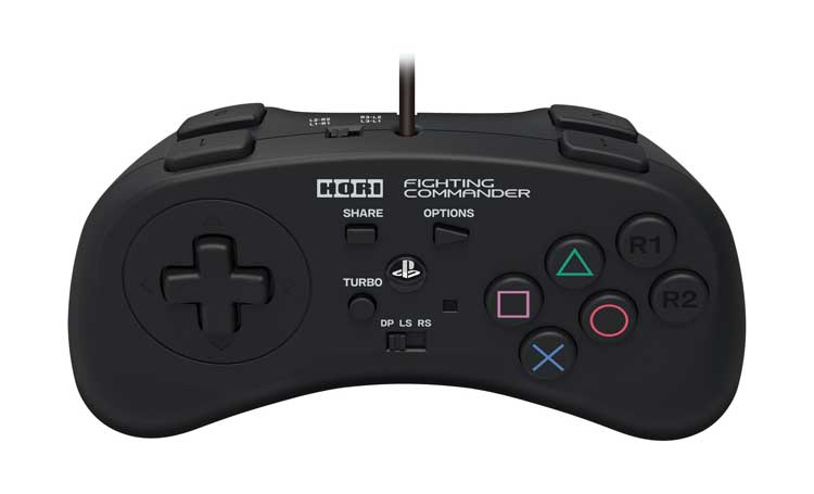 Controller ps4 Horii Fighting commander visto da sopra