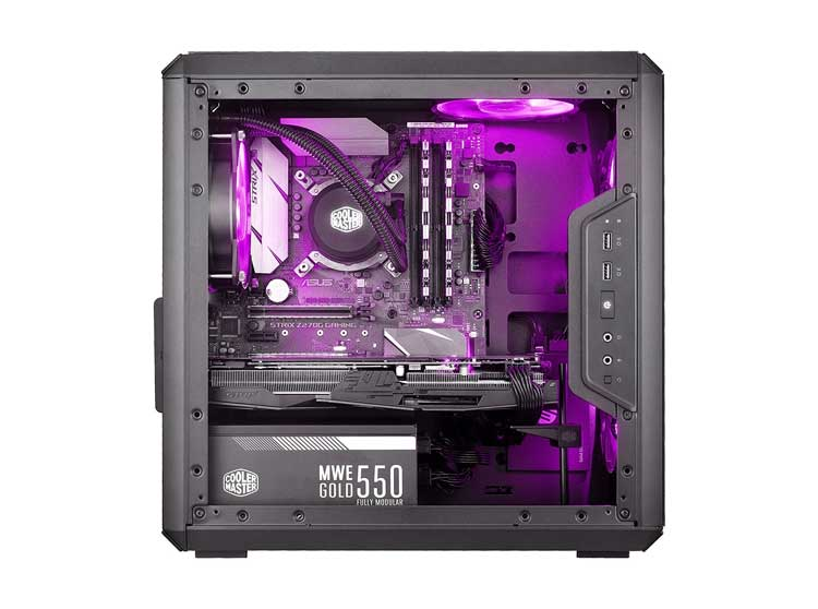 foto laterale del mini case pc Cooler Master MasterBox Q300L