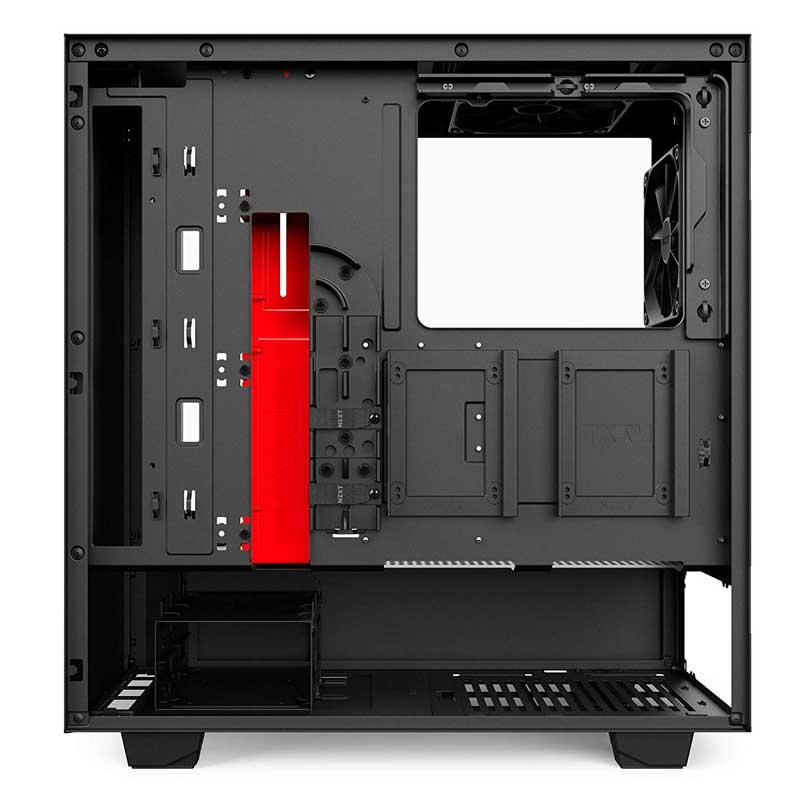 case computer gaming nzxt h500 vista retro con gestione cavi