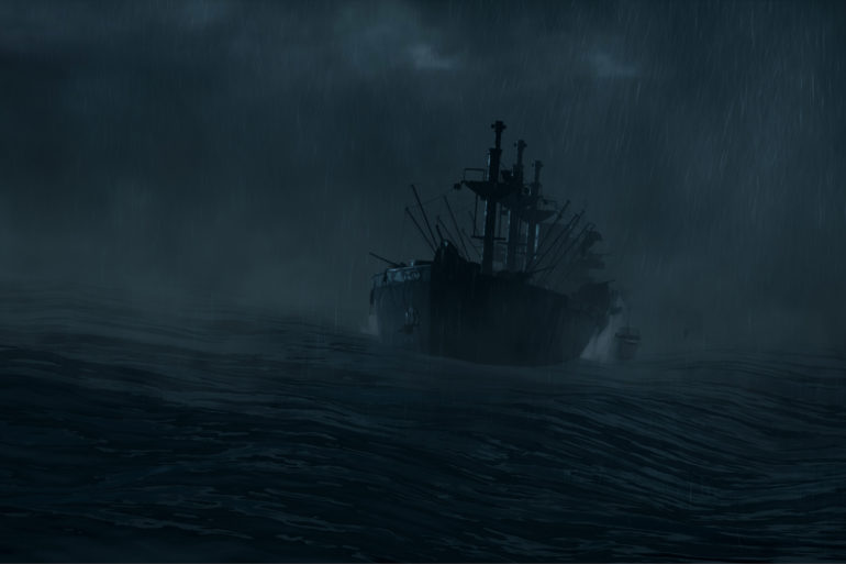 oceano e la tempesta in Man of Medan