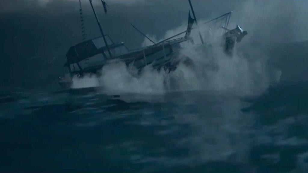 La nave in balia della tempesta