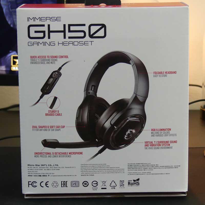 MSI GH50  Specifiche