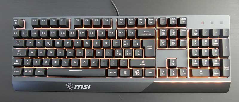 Tastiera MSI Vigor GK30 retroilluminazione arancio