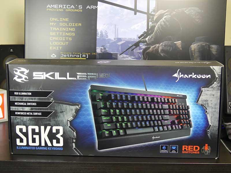 sharkoon skiller sgk3 unboxing