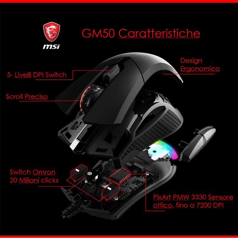 msi clutch gm50 Caratteristiche