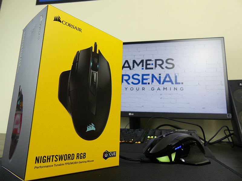 recensione mouse gaming corsair nightsword rgb