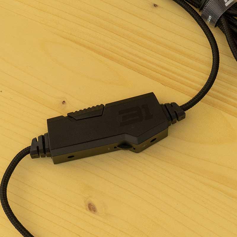 Regolatore volume comandi audio cavo cuffie