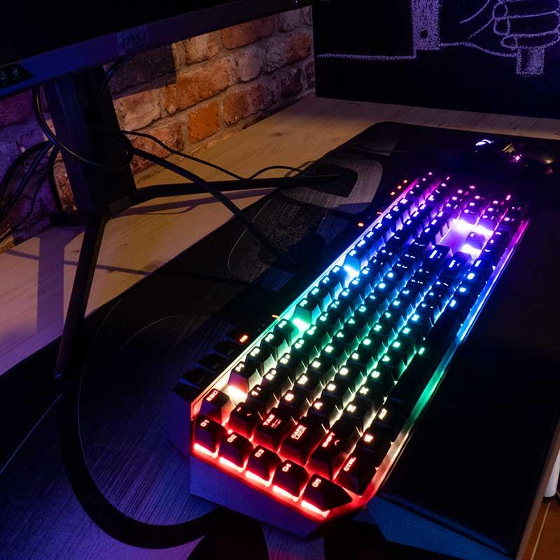 Retroilluminazione tastiera meccanica