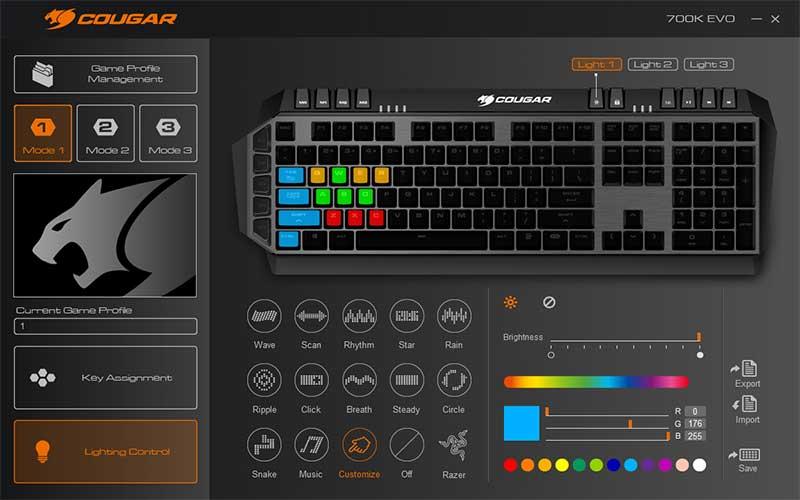 Software-illuminazione rgb cougar 700K EVO 2