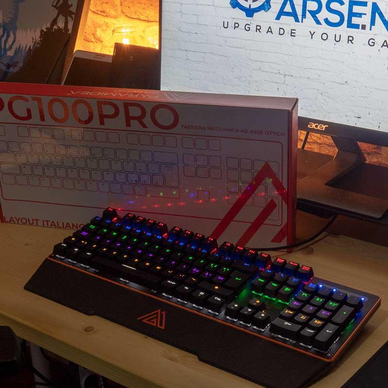 Retroilluminazione tastiera PG100 PRO