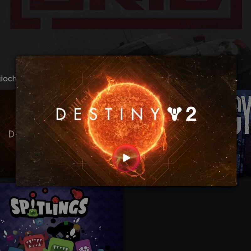 Schermata avvio di Destiny 2 Stadia