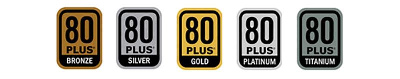 Alimentatori certificati 80 plus i vari livelli