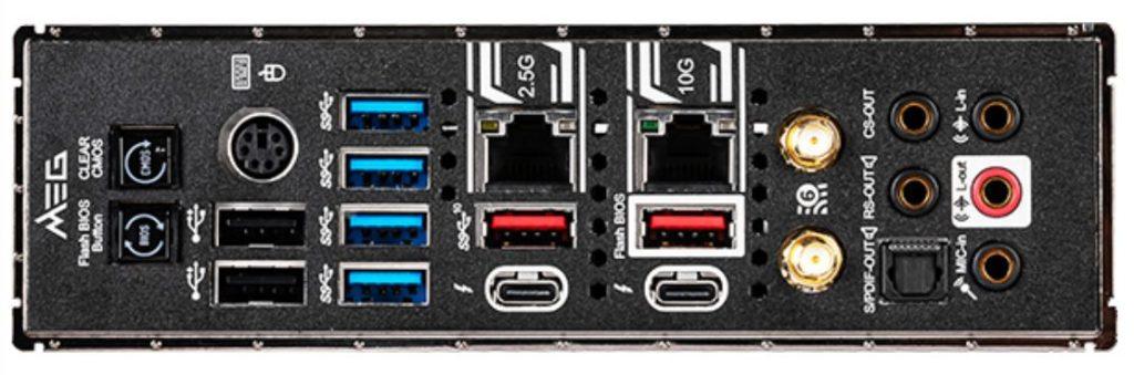Connessioni scheda madre MSI Z490