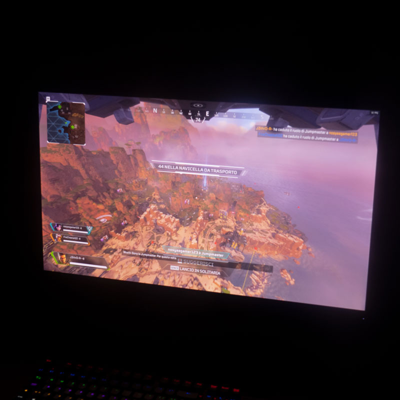 ASUS TUF VG27AQ test apex legends