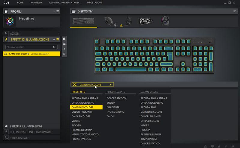 k60 software retroilluminazione