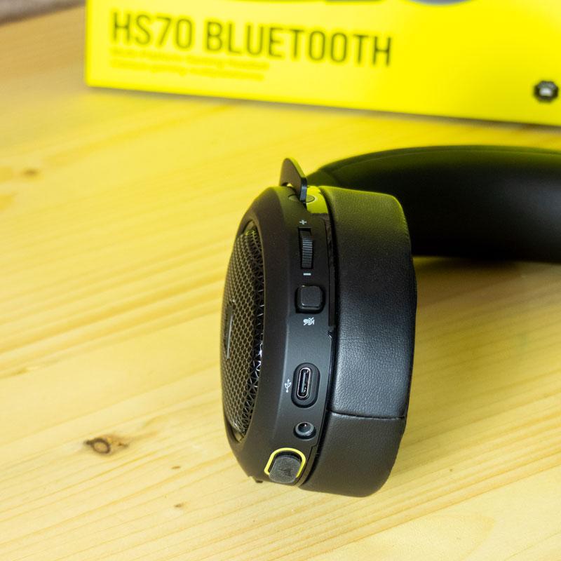 comandi audio cosair hs70 bluetooth